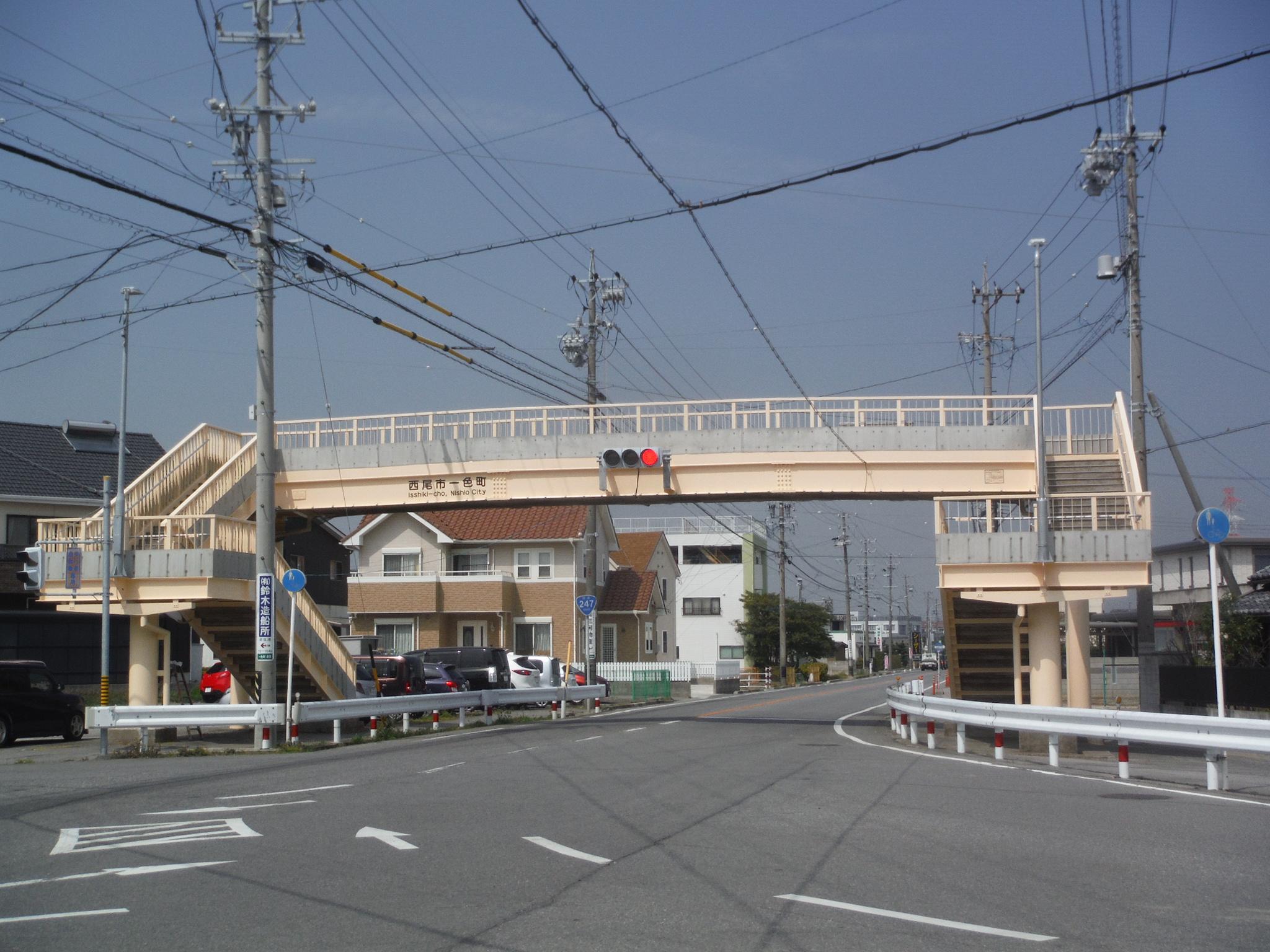 一色町横断歩道橋(愛知県)