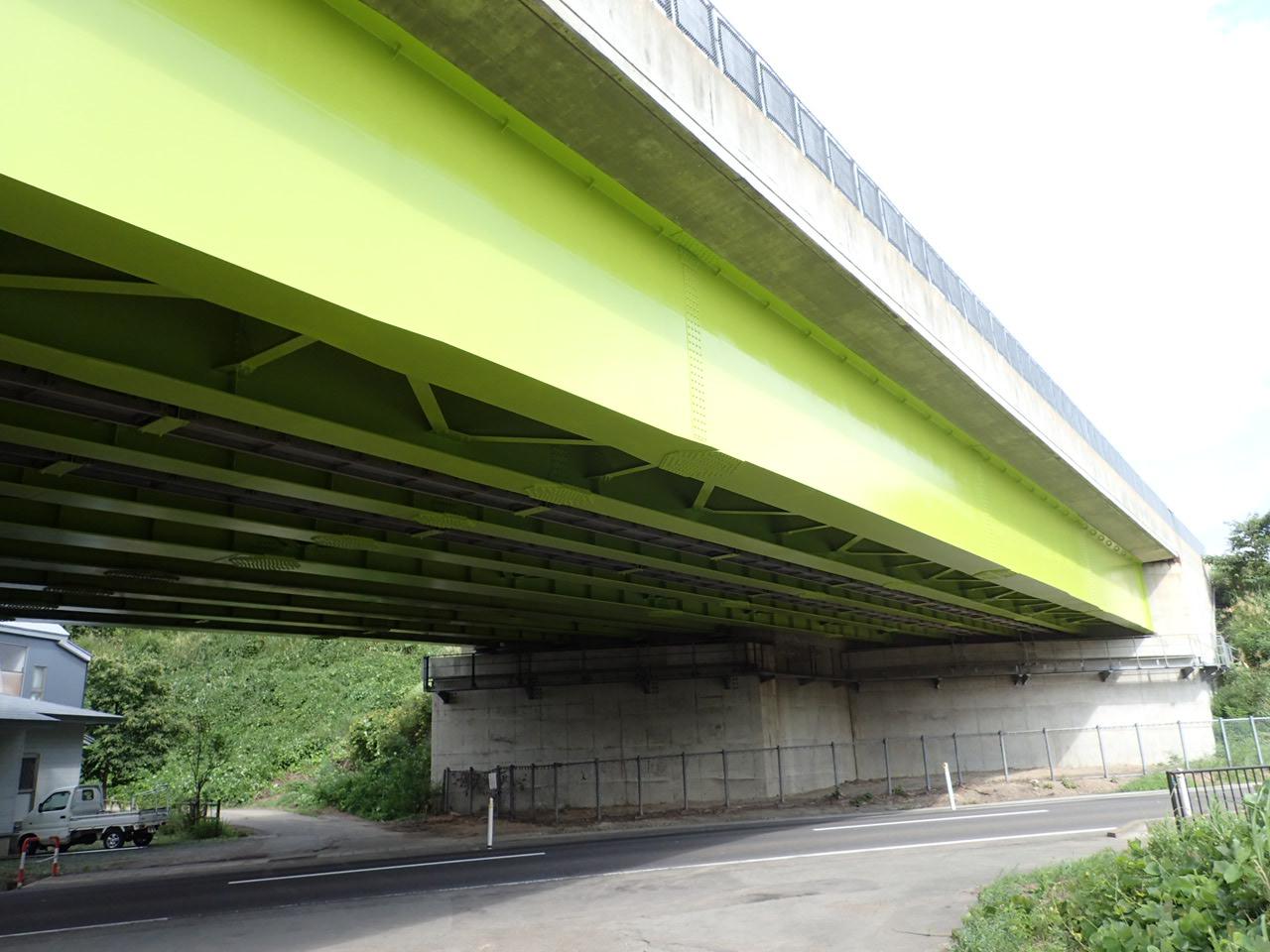 秋田自動車道朴田橋(秋田県)
